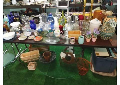 Chardon Garage Sale - Sat & Sun, Sept 13 & 14 - Antiques, Glassware, Junk, Yard Art