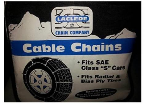Cable chains for tires